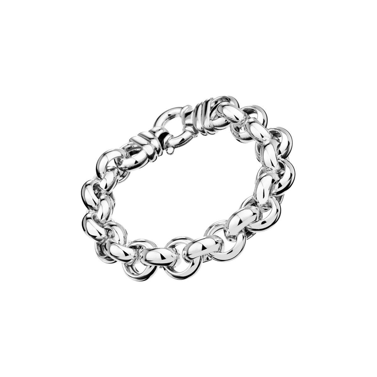 Bracelet chaîne maille jaseron en argent 925, 56g