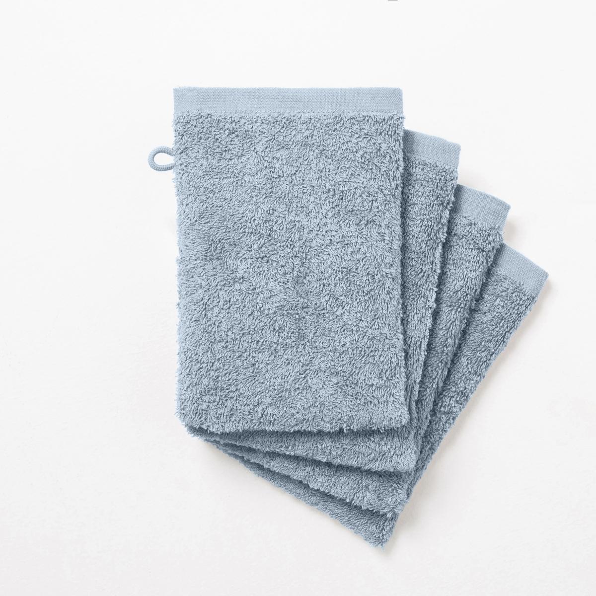 Комплект из 4 банных рукавичек 500 г/м²