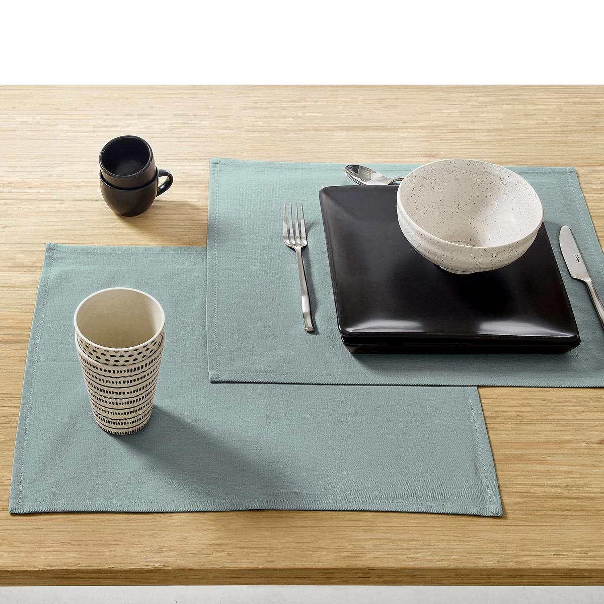 Комплект из 4 салфеток под столовый прибор, с обработкой против пятен от La Redoute