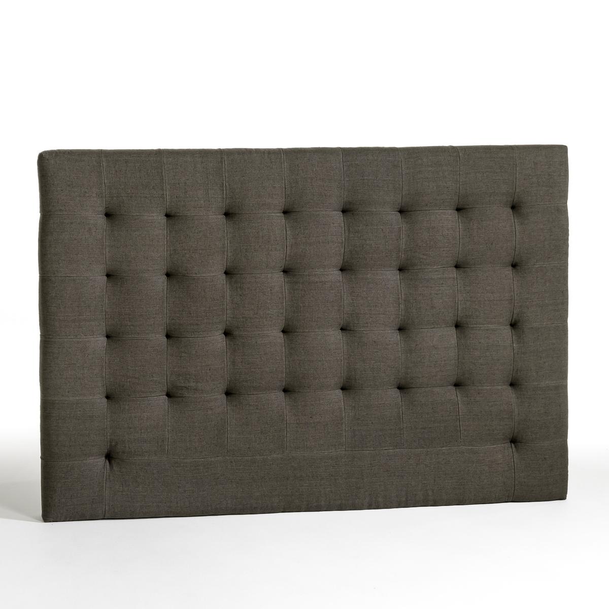 Изголовье La Redoute Кровати с обивкой из осветленного льна В см SELVE 140 см серый кровати 140 см