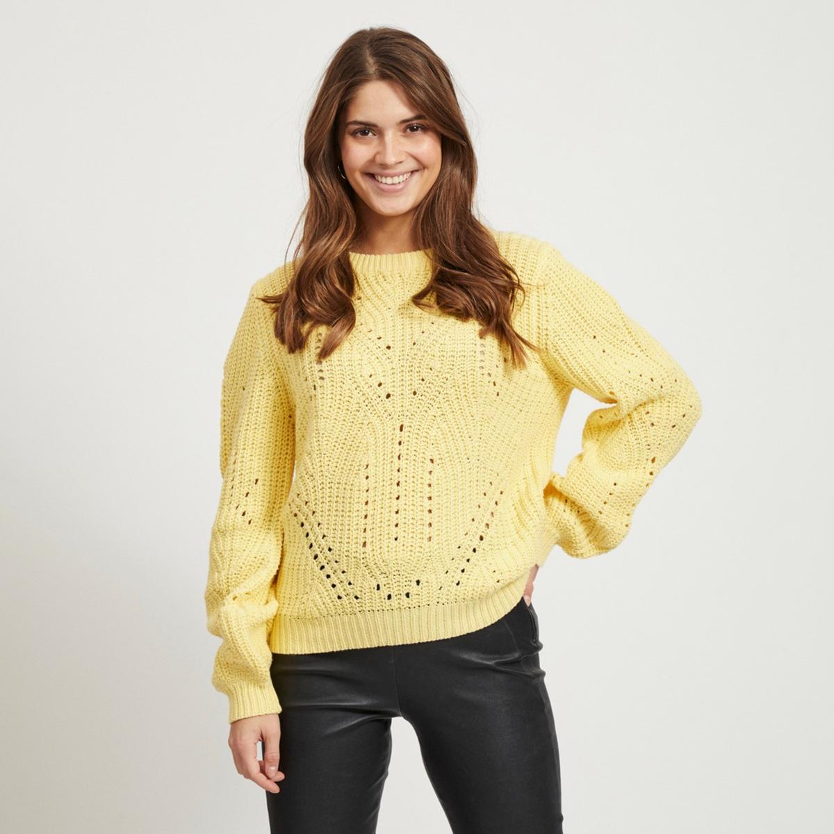Пуловер La Redoute С круглым вырезом из плотного трикотажа XS желтый пуловер la redoute с круглым вырезом из плотного трикотажа 3xl бежевый