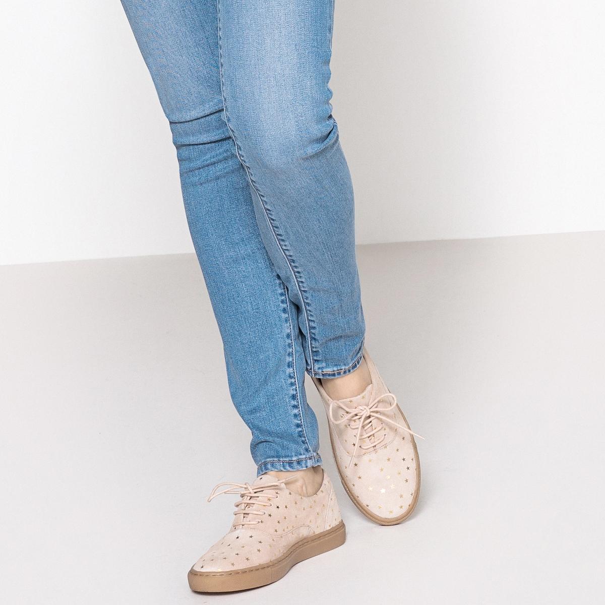 Zapatillas de piel con motivos de estrellas