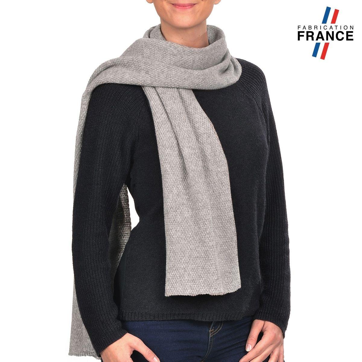 QUALICOQ Echarpe SOIZIC Grise - Fabriqué en France 181af61ac3a