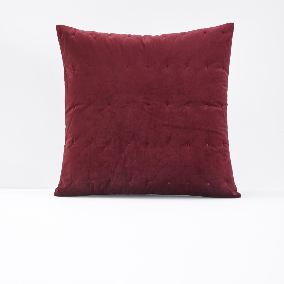 Чехол на подушку из велюра с вышивкой PETIPON.