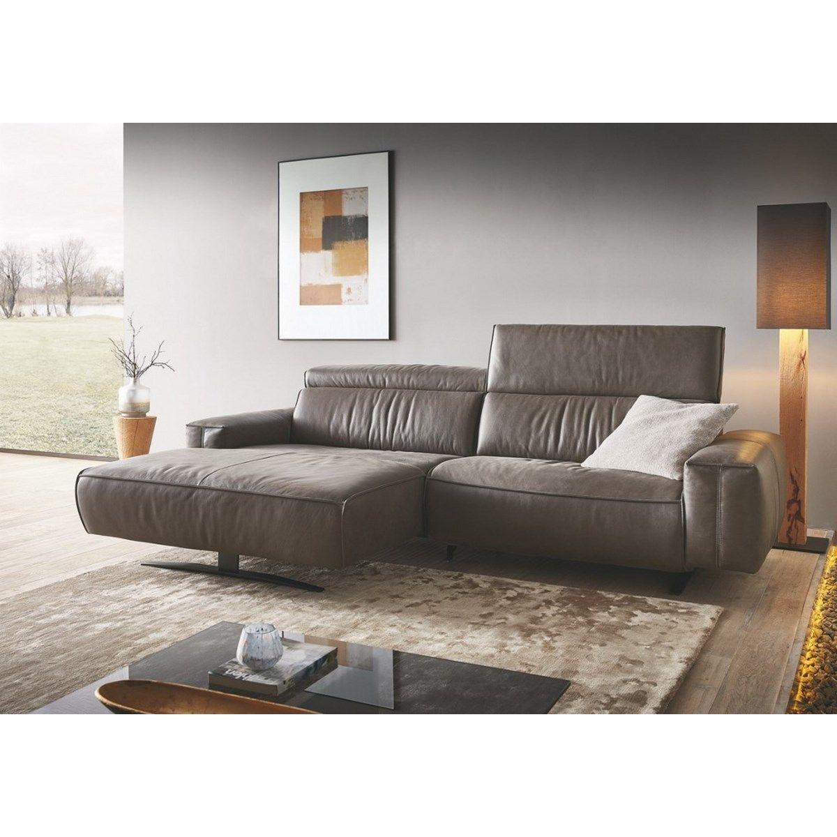 Petit canapé angle Cuir chaise longue très large EXOVILLE TM