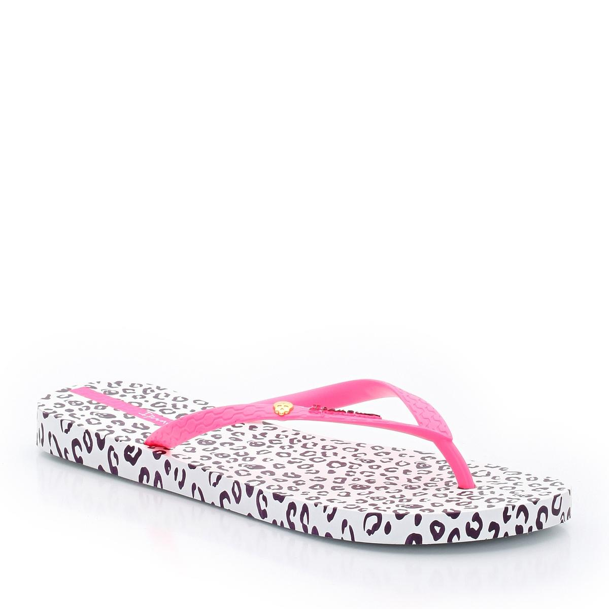 Вьетнамки  Animal PrintВерх : Синтетический материал          Подошва : Синтетический материал       Форма каблука : плоский Мысок : Открытый. Застежка : без застежки<br><br>Цвет: белый/розовый рисунок<br>Размер: 38