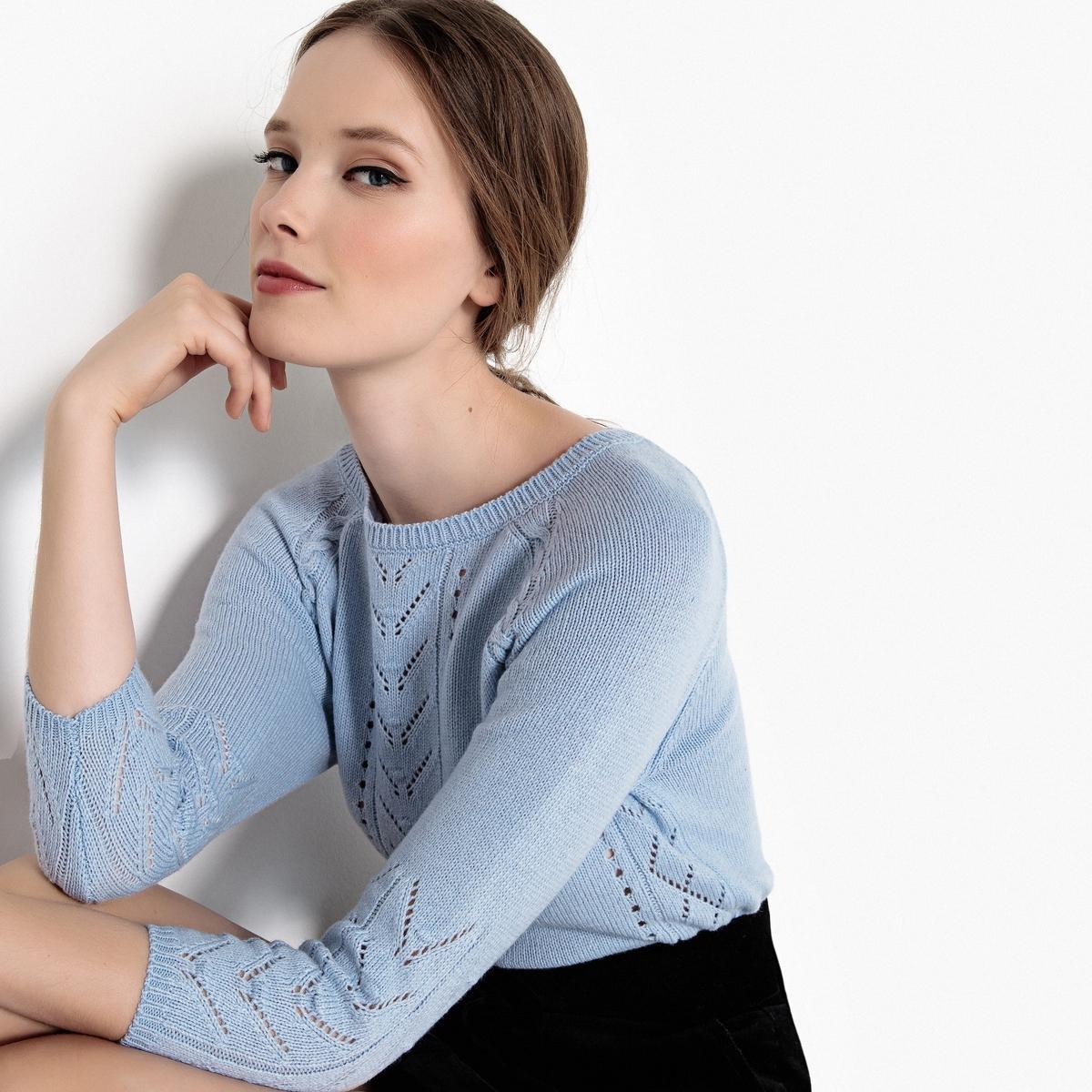 Пуловер ажурный с укороченными рукавами ажурный пуловер quelle ajc 787037
