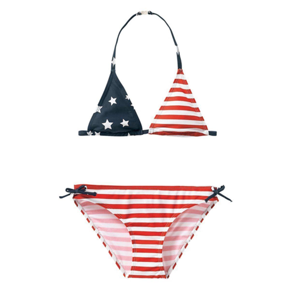 Купальник La Redoute Раздельный с рисунком американский флаг 10-16 лет 10 лет - 138 см красный раздельный женский купальник barbara