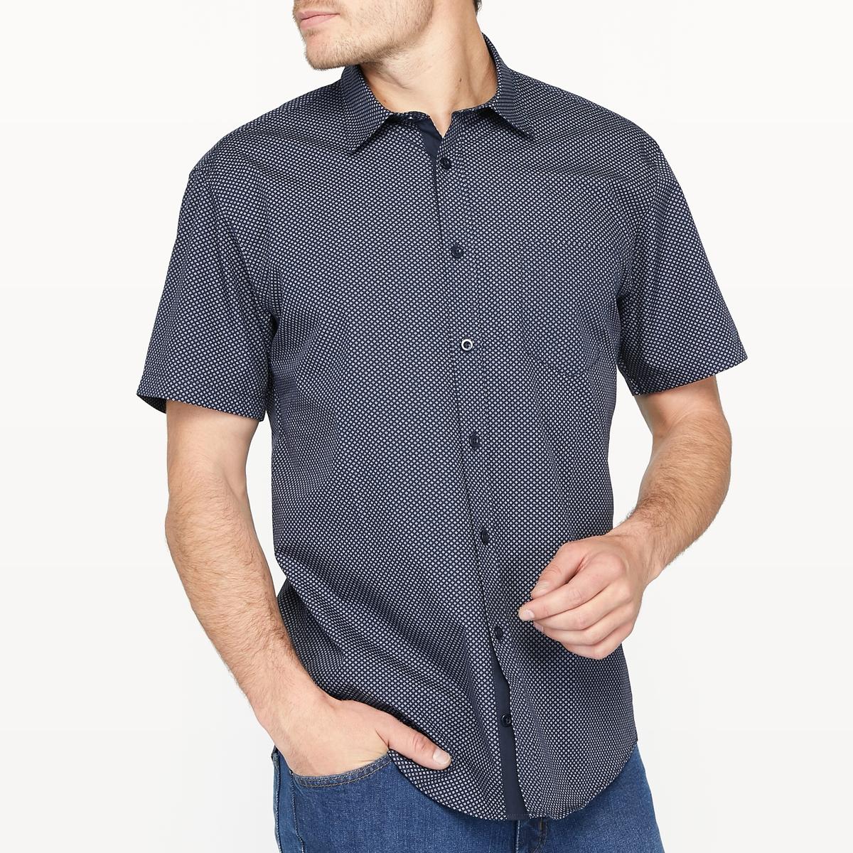 Фото Рубашка прямая с принтом 100% хлопок. Купить с доставкой
