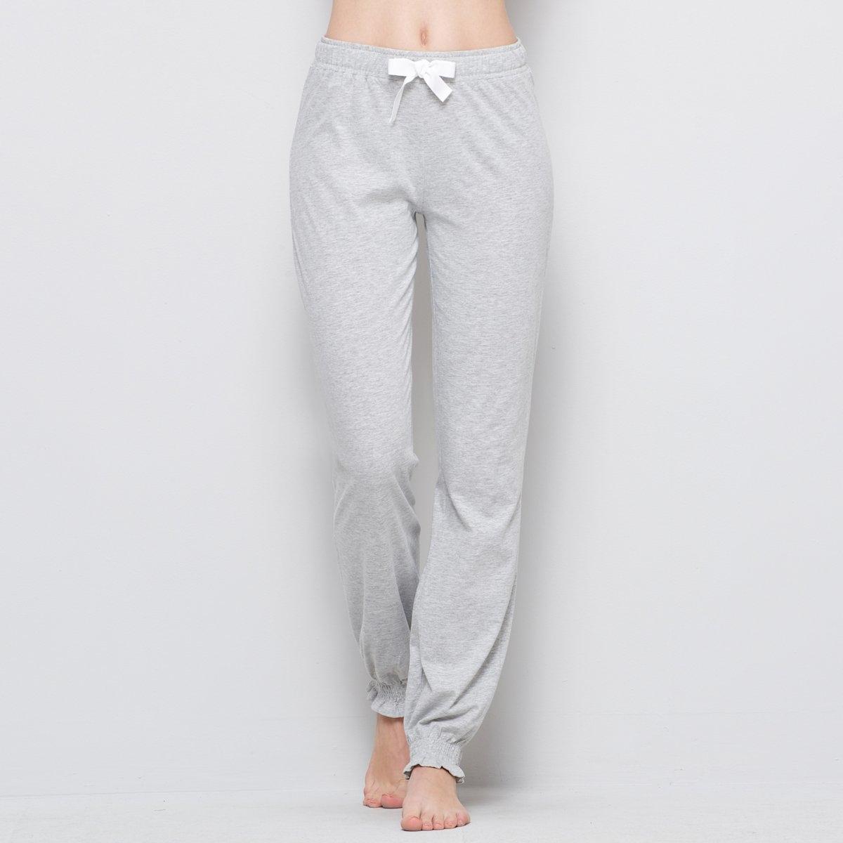Брюки LA REDOUTE CREATIONБрюки пижамные из джерси 100% хлопок . Создайте индивидуальную пижаму в сочетании с футболкой с длинными или короткими рукавами !  Джерси, 100% хлопка. Эластичный пояс на кулиске. Эластичный низ брючин. Длина по внутр.шву ок.78 см . ! . . .<br><br>Цвет: светло-серый меланж,черный<br>Размер: 34/36 (FR) - 40/42 (RUS).50/52 (FR) - 56/58 (RUS).46/48 (FR) - 52/54 (RUS).46/48 (FR) - 52/54 (RUS).42/44 (FR) - 48/50 (RUS).38/40 (FR) - 44/46 (RUS).38/40 (FR) - 44/46 (RUS).34/36 (FR) - 40/42 (RUS)