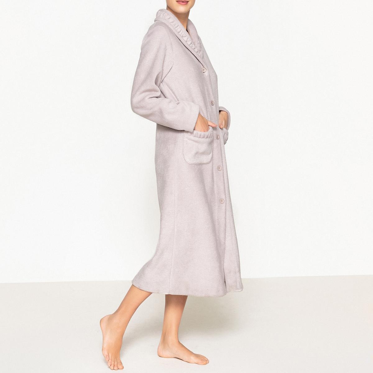 Халат флисовыйХалат из флисового трикотажа, очень мягкий, теплый и приятный в носке.Оригинальные сборки на шалевом воротнике и на 2 передних плоских карманах.Халат с полной передней застежкой на пуговицы. Длина ок. 120 см.Флисовый халат, 100% полиэстера.<br><br>Цвет: синий морской<br>Размер: 50/52 (FR) - 56/58 (RUS).54/56 (FR) - 60/62 (RUS).46/48 (FR) - 52/54 (RUS)