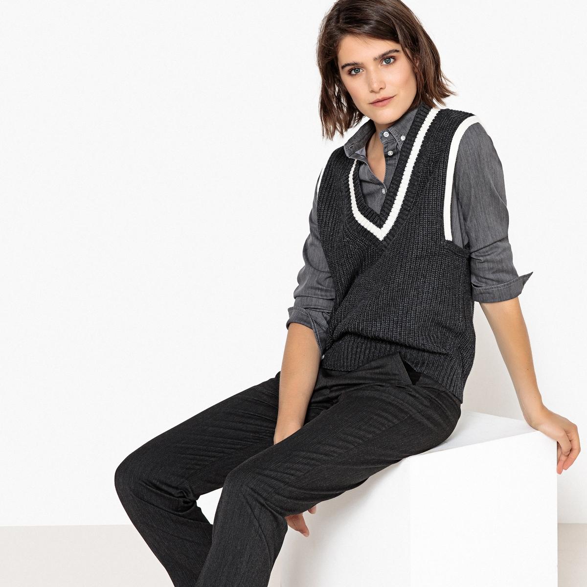 Пуловер без рукавов с V-образным вырезом La Redoute Collections