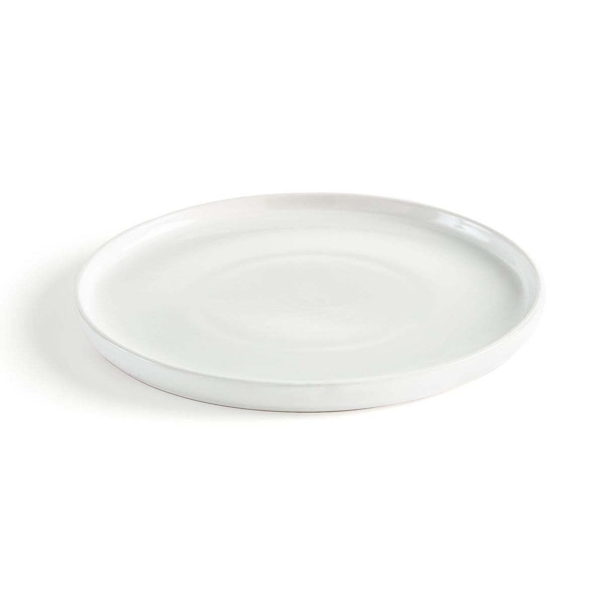 4 тарелки LaRedoute Мелкие керамические ELINOR единый размер белый