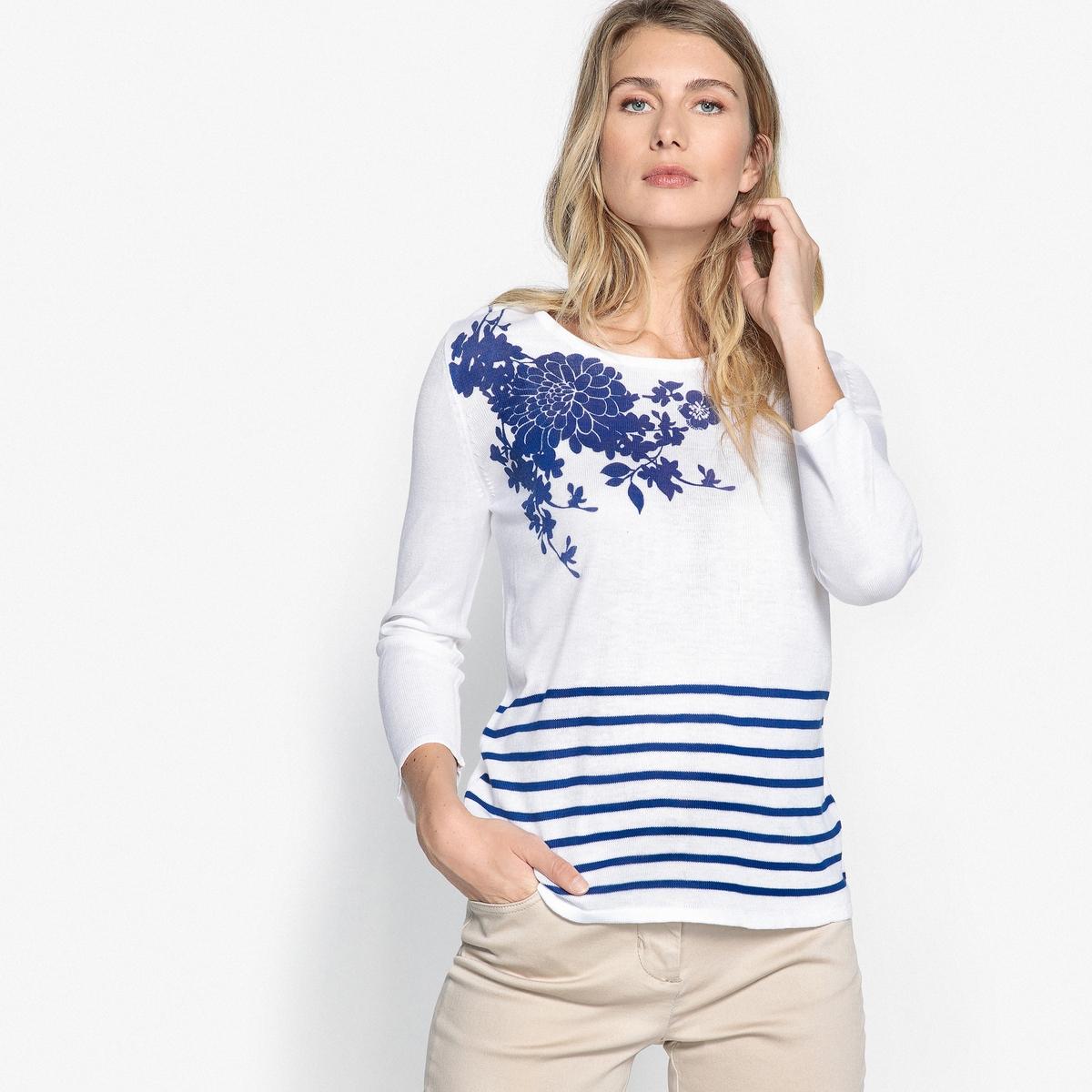 Пуловер в полоску в морском стиле с круглым вырезом adriatica часы adriatica 1191 52b3ch коллекция twin