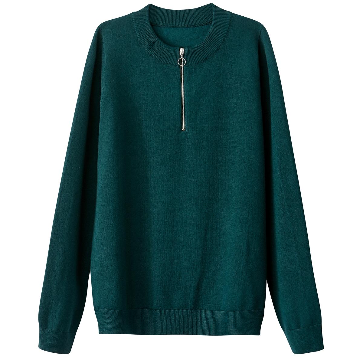 Пуловер на молнии из вискозы