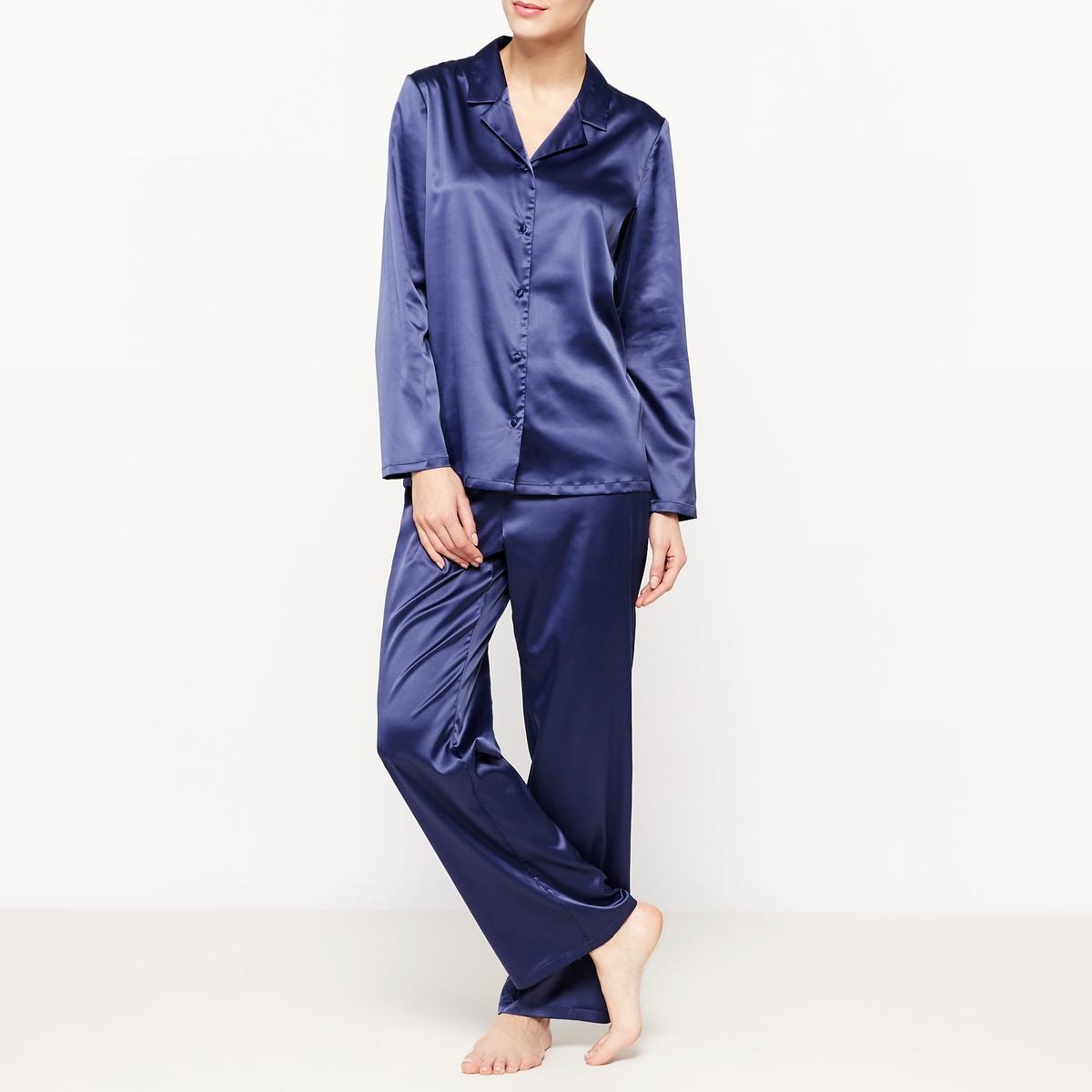 Пижама с брюками из сатина