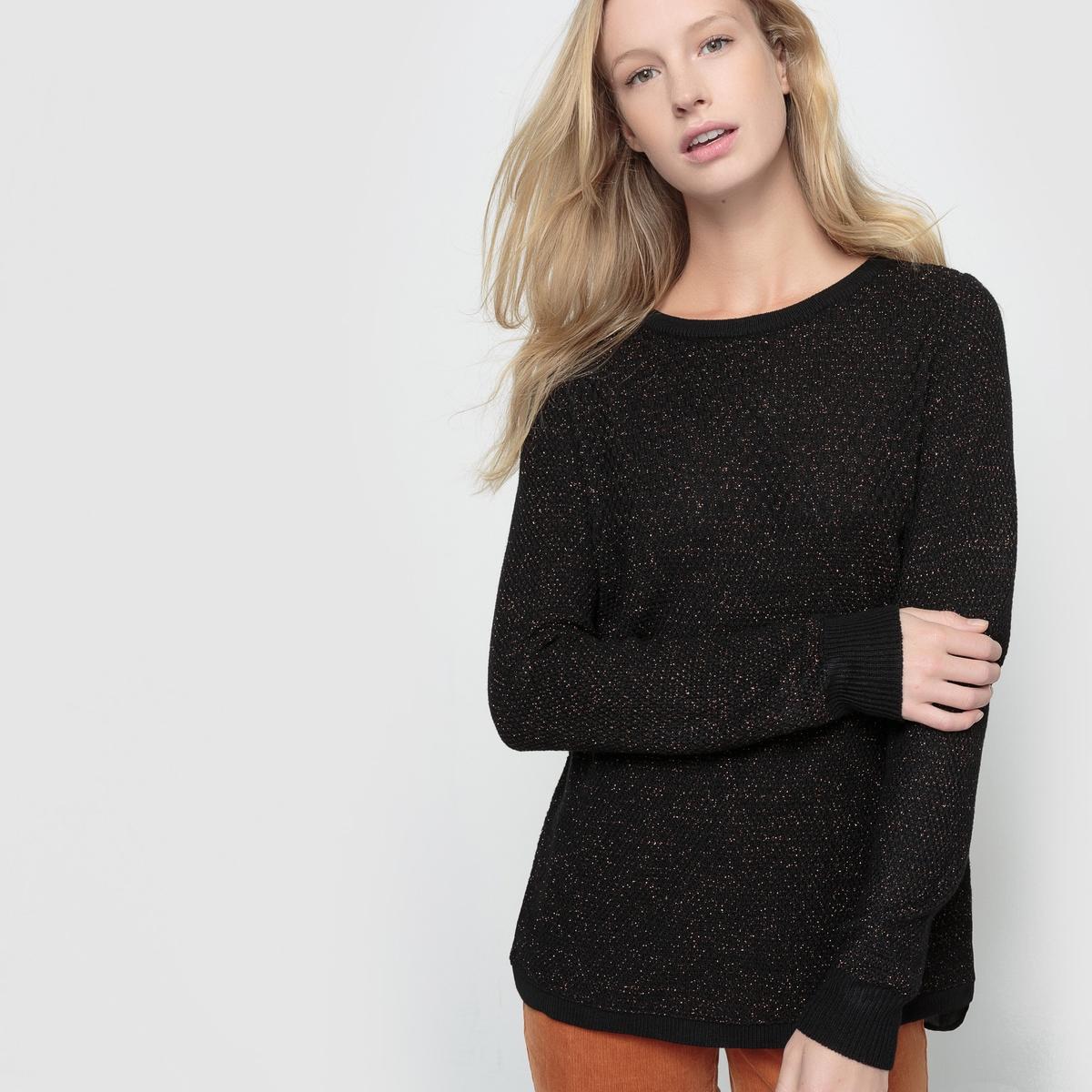 Пуловер из тонкого трикотажаПуловер с длинным рукавом BEST MOUNTAIN. Круглый вырез. Пуловер из тонкого трикотажа. Спинка из вуали. Состав и описание :Материал : 45% акрила, 45% вискозы, 10% люрексаМарка : BEST MOUNTAIN.<br><br>Цвет: черный