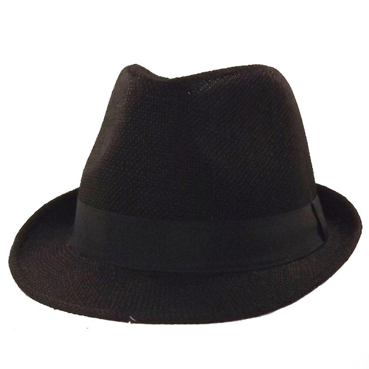 Chapeau trilby noir Brad