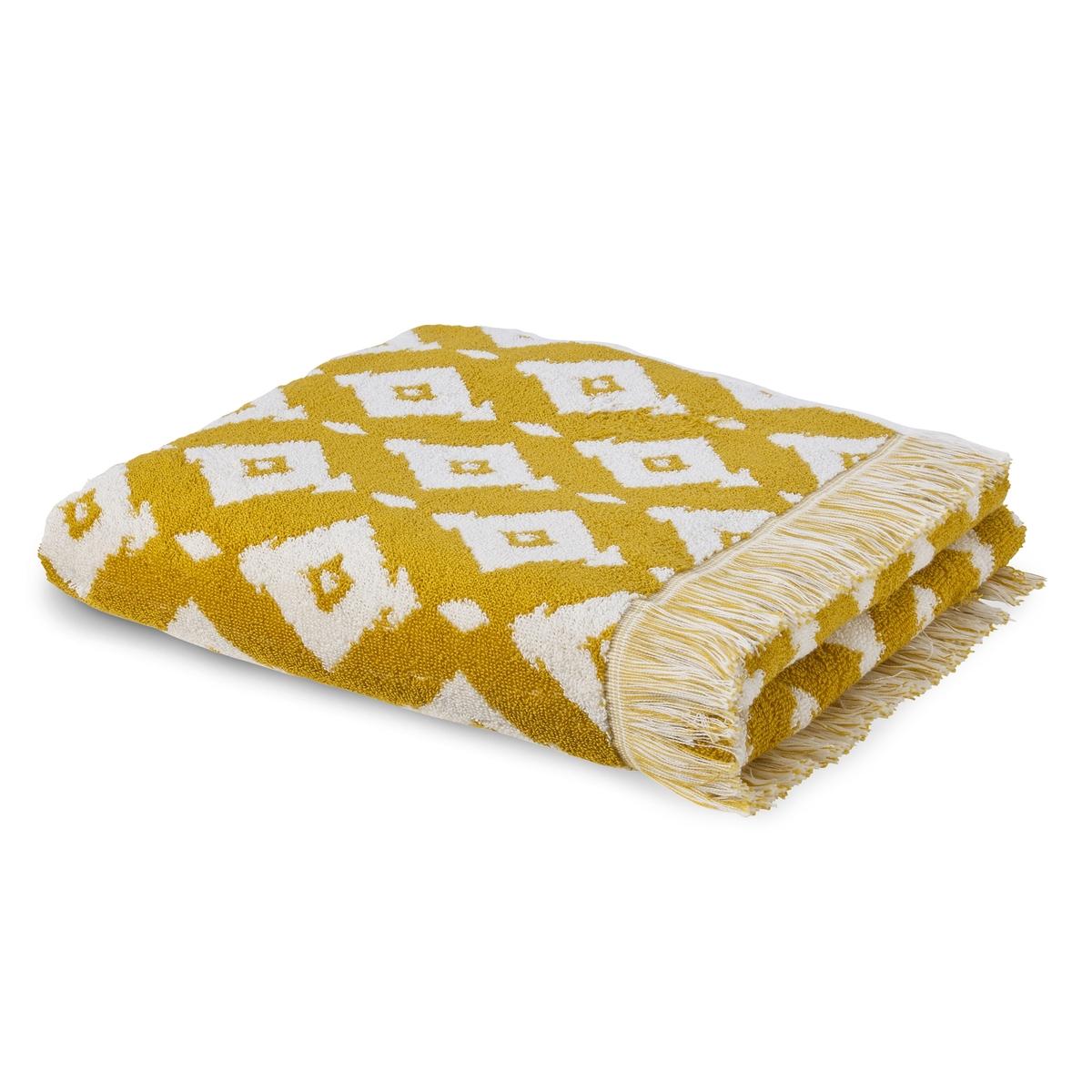 Полотенце банное большое из жаккардовой ткани IKA