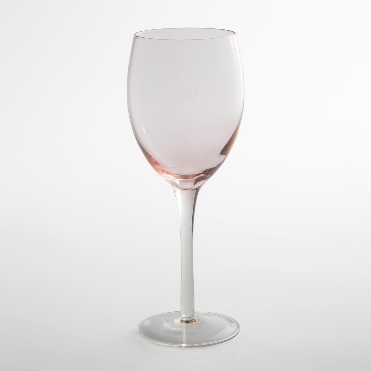 Комплект из 4 бокалов для водыКомплект из 4 прозрачных бокалов для воды La redoute Int?rieurs. Темно-розовый узор на дне в современном дизайне. Характеристики 4 бокалов для воды  :- Прозрачные бокалы для воды с темно-розовым узором на дне- Диаметр : 7 см- Высота : 21,5 см - Подходят для мытья в посудомоечной машине- В комплекте 4 бокала<br><br>Цвет: дымчато-розовый