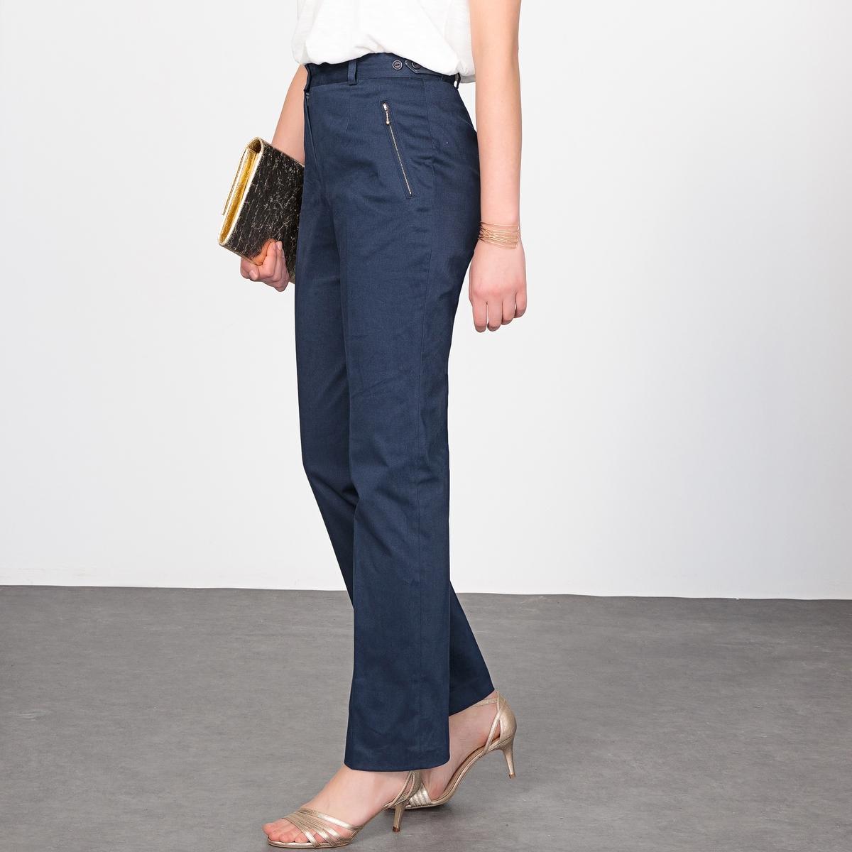 Imagen adicional de producto de Pantalón de satén de algodón stretch - Anne weyburn
