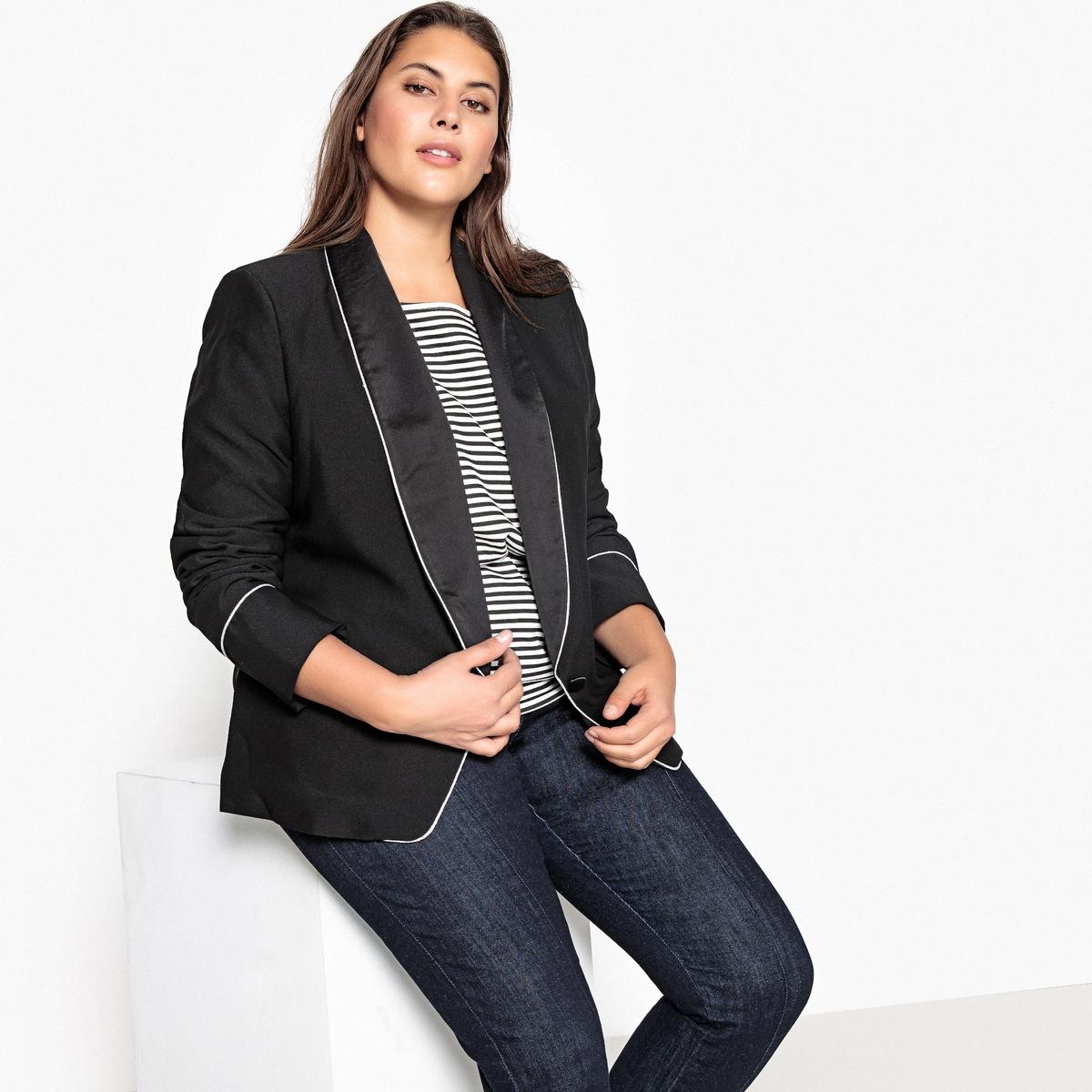 Блейзер прямого покроя рубашка прямого покроя большого размера с контрастными пуговицами