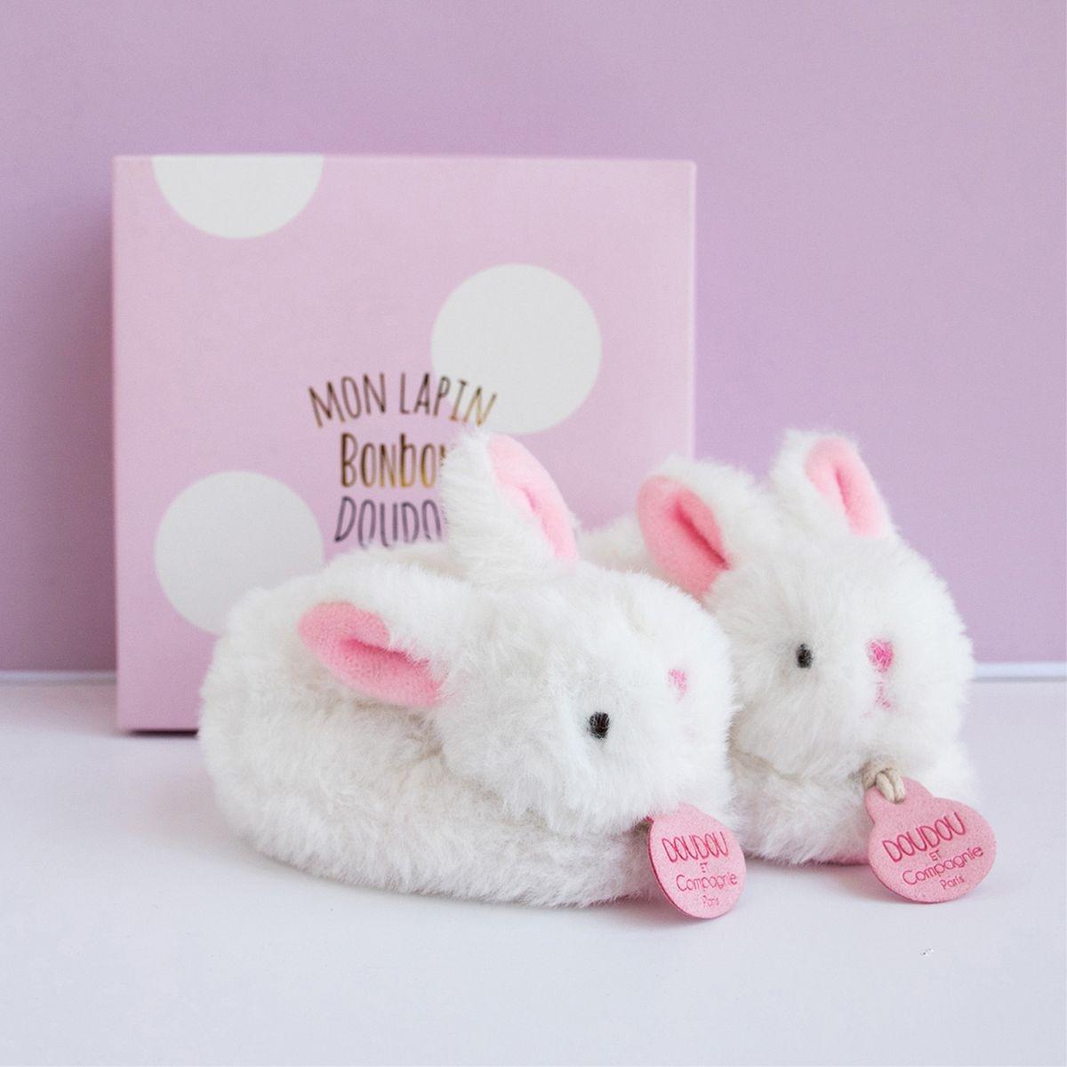 Mes petits chaussons Lapin bonbon
