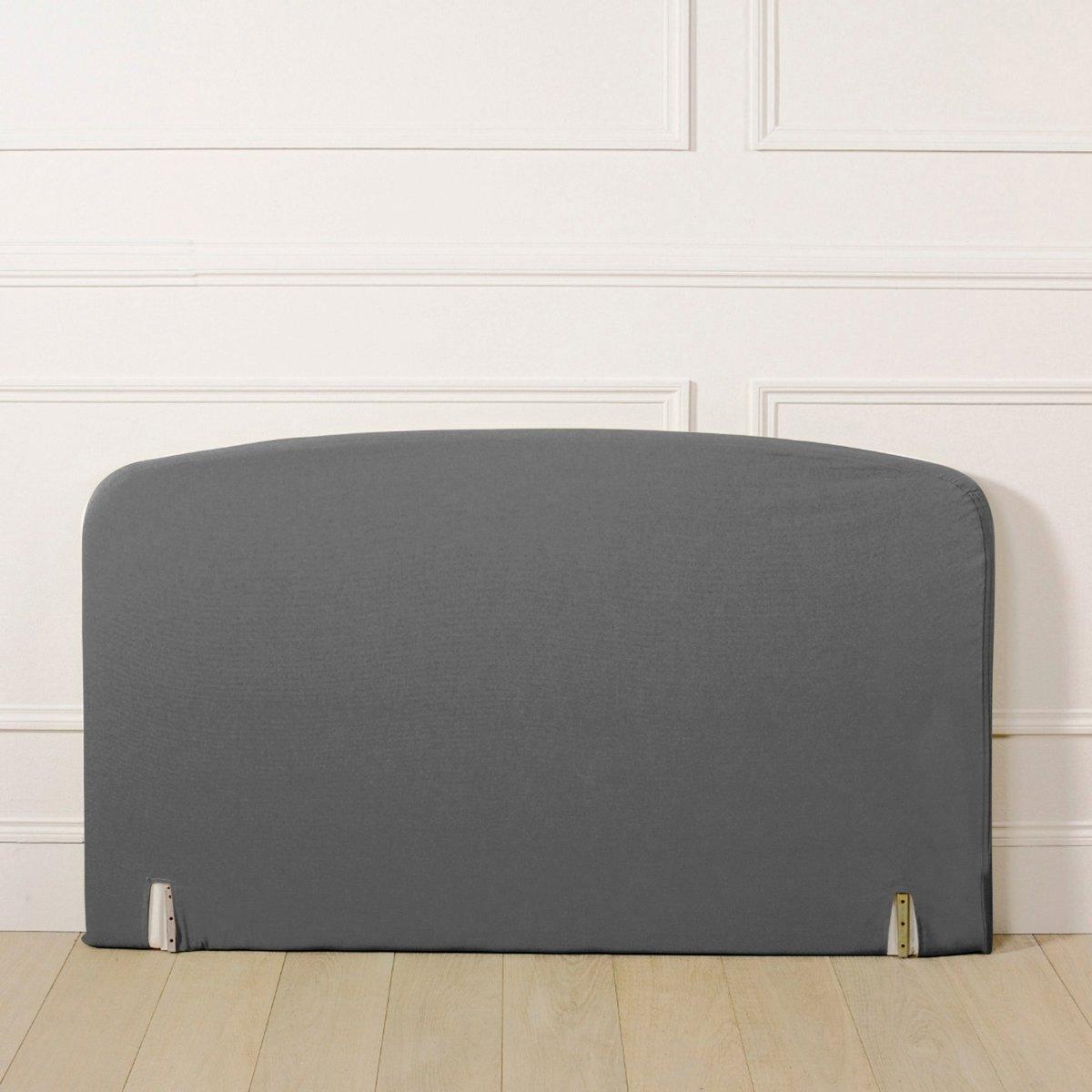 Чехол LaRedoute Для изголовья кровати изогнутой формы из поликоттона 140 x 85 см серый