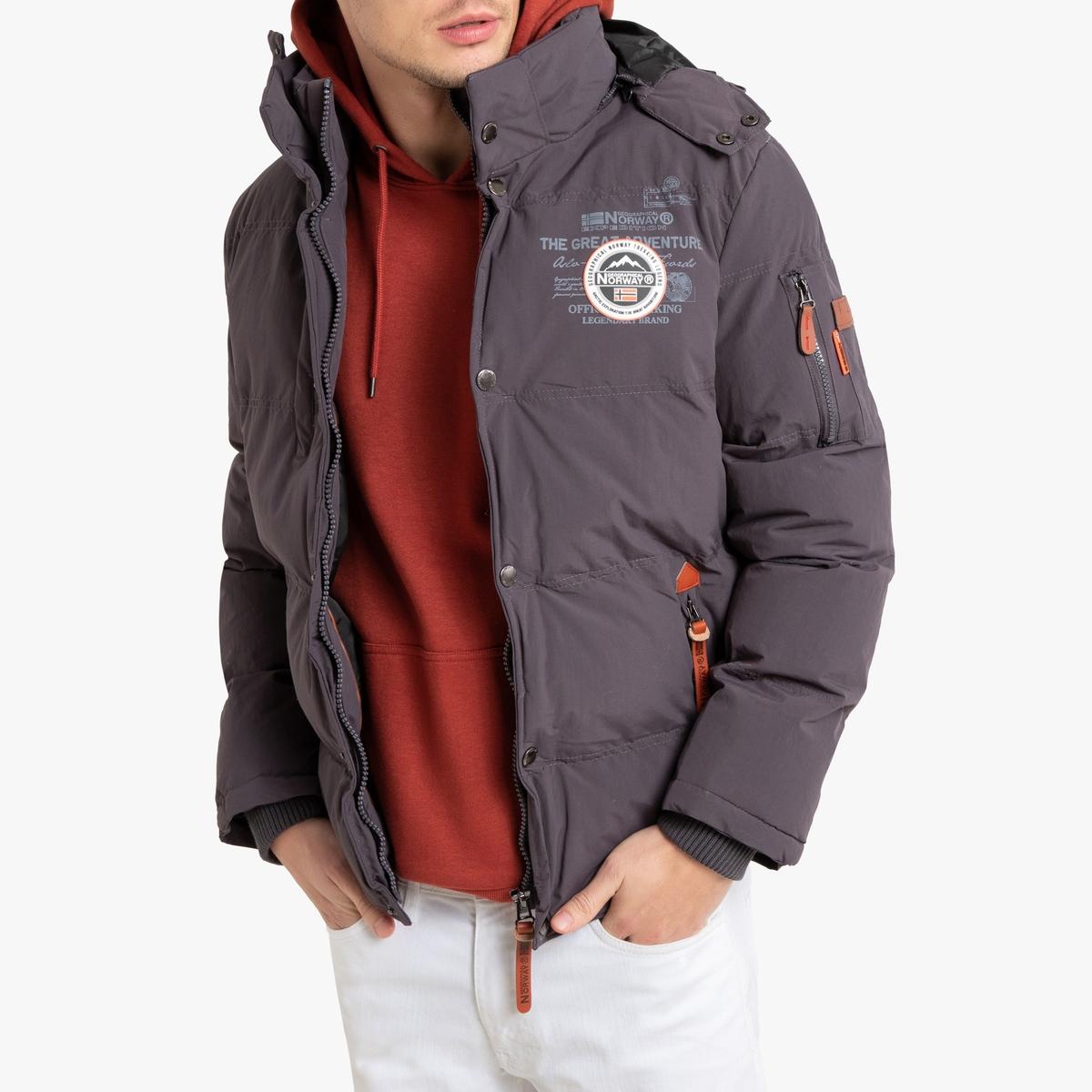 Куртка La Redoute Стеганая утепленная с капюшоном Verveine XXL серый пуховая стеганая куртка с капюшоном