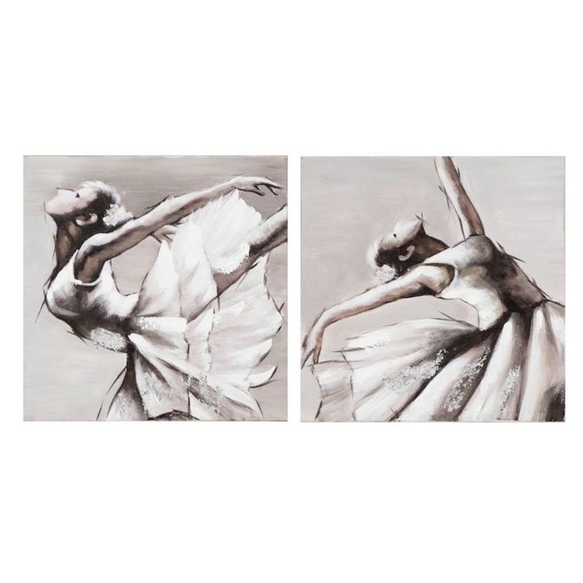 14056922104f3 PIER IMPORT Lot de 2 Tableaux Danseuse Classique ton neutres blancs, beiges  gris et noirs