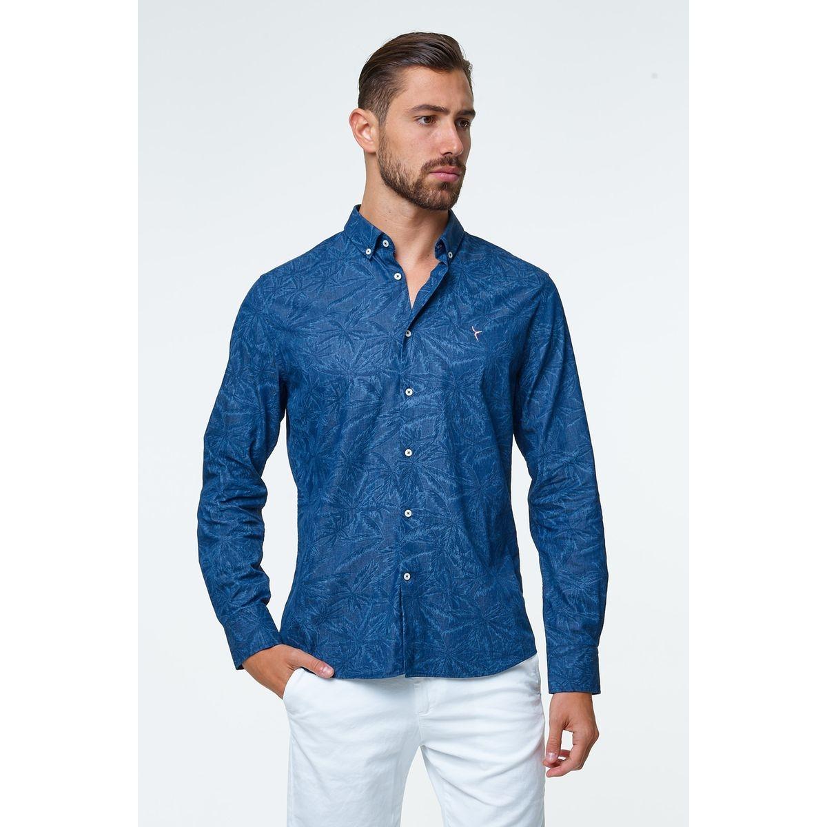 chemise denim dark blue