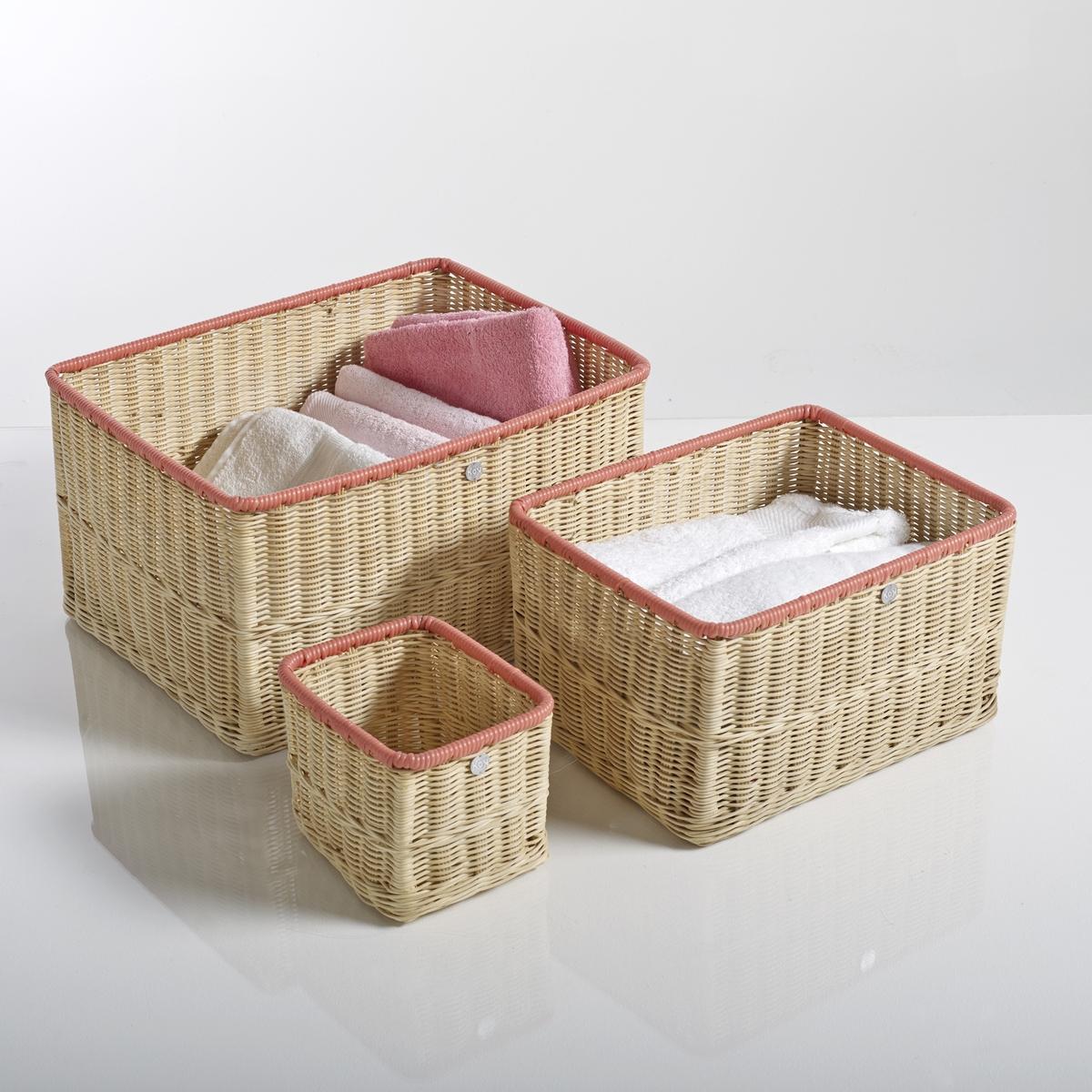 Корзинки для хранения вещей KOK Ozier ( 3 шт.)Описание 3 корзинок для хранения вещей Ozier  :Плетеная корзина с цветным окаймлением .Характеристики 3 корзинок Ozier :Из сердцевины плетеного ротанга .Отделка из цветной природной смолы  .Найдите коллекцию для хранения вещей на нашем сайте  ..Размеры 3 корзинок для хранения вещей Ozier:Маленькая модель  : 20 x 15 x16 см .Средняя модель: 35 x 21 x 28 см Большая модель  : 45 x 25 x 36 см .Размер и вес с упаковкой:1 упаковка49 x 28 x 39 cm, 2,5 кг<br><br>Цвет: оранжевый