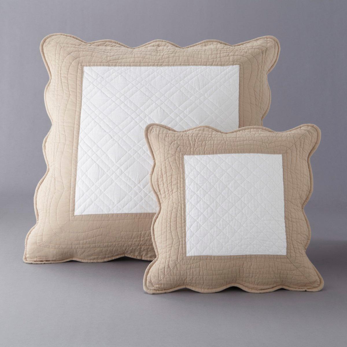 Чехол для подушки стеганый двухцветный