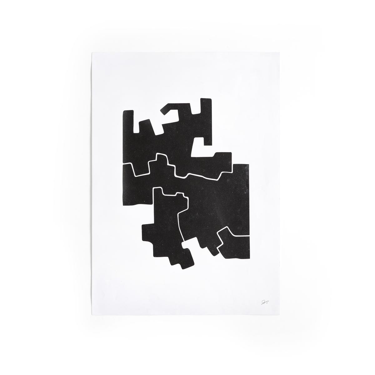 Плакат с черно-белым рисунком, Bialik от La Redoute