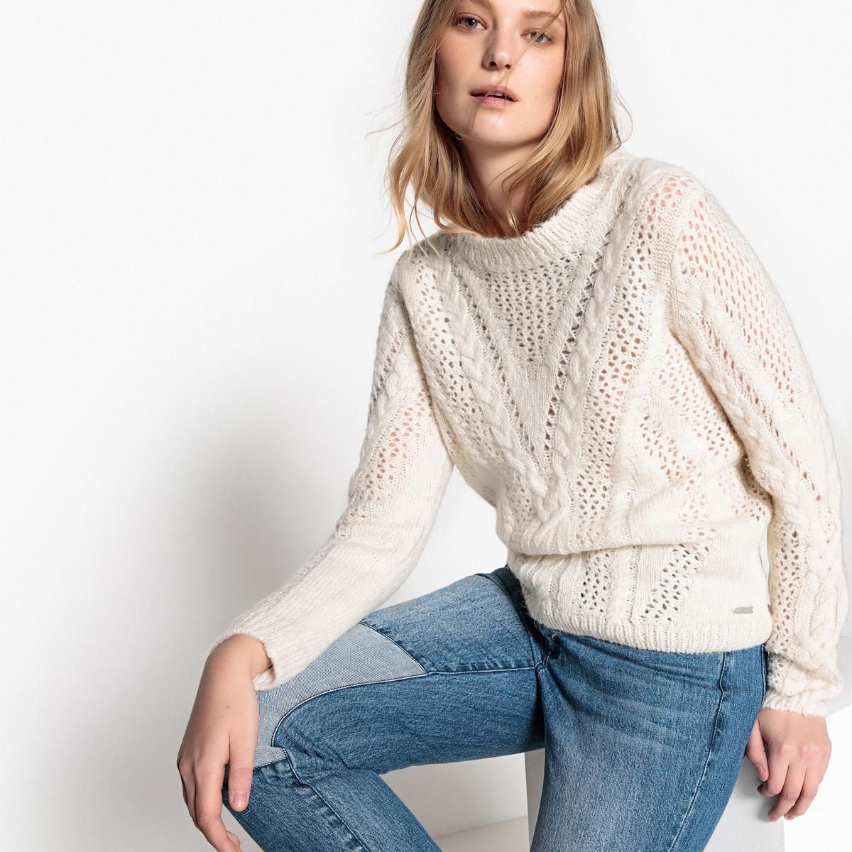 Пуловер из плотного трикотажа с круглым вырезом пуловер из плотного трикотажа cameron