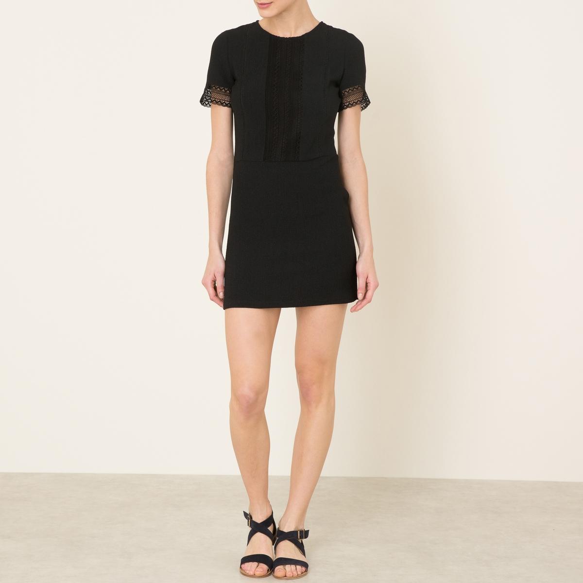 Платье BAILAСостав и описание    Материал : 97% полиэстера, 3% эластана   Длина ок.85 см. для размера 36   Марка : SESSUN<br><br>Цвет: черный