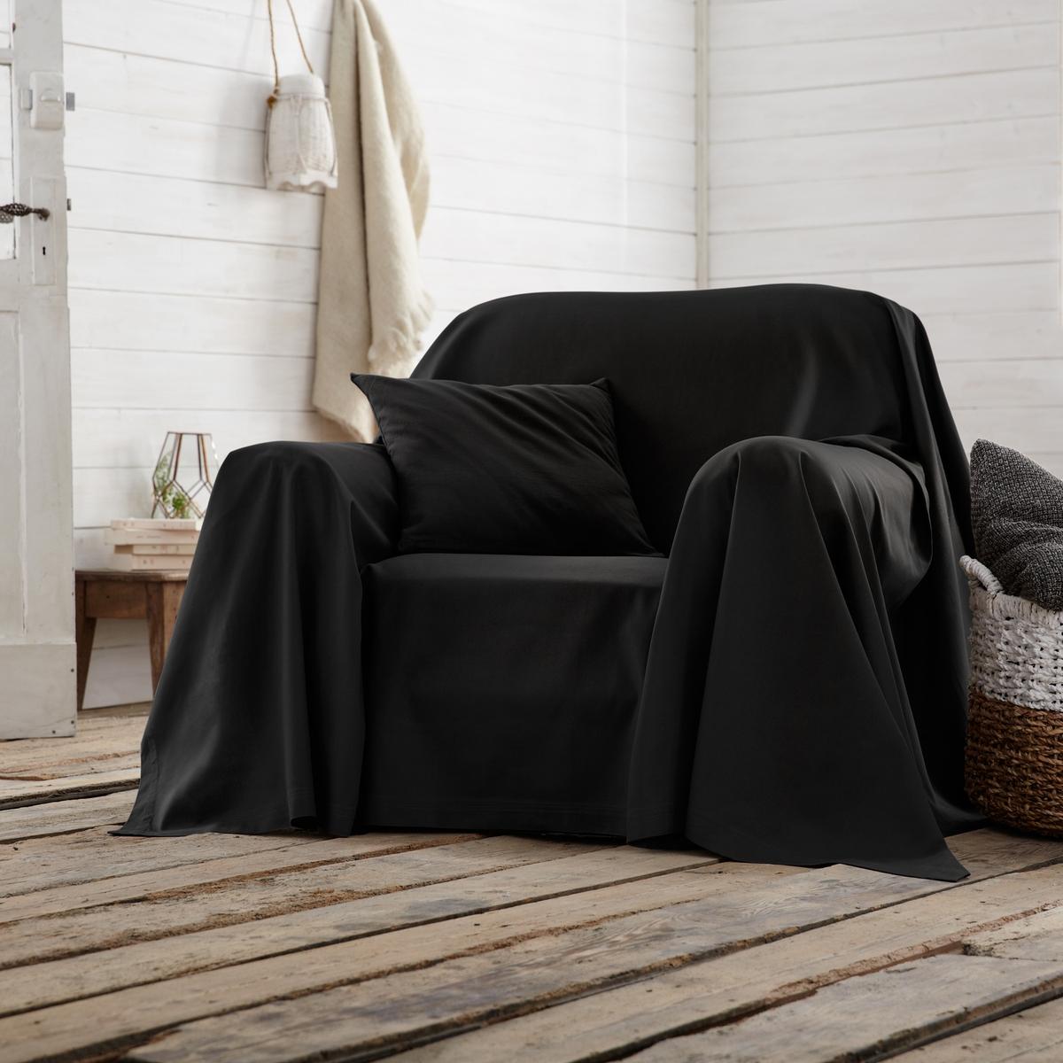 Покрывало La Redoute Для кресла SCENARIO 250 x 350 см черный чехол la redoute эластичный для кресла и дивана ahmis 3 местн белый