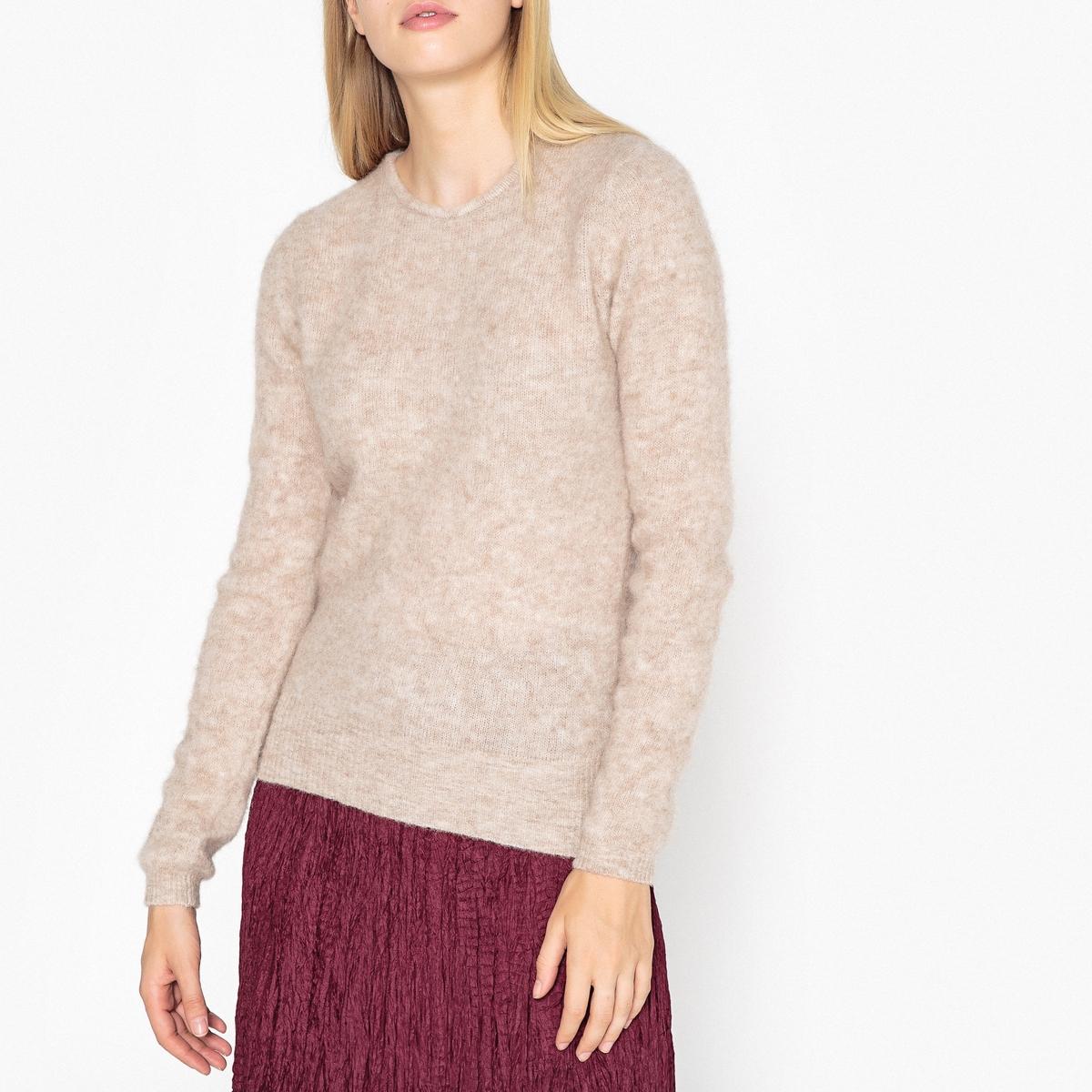 Пуловер с круглым вырезом из трикотажа крупной вязки HANAPARK пуловер из плотного трикотажа с v образным вырезом