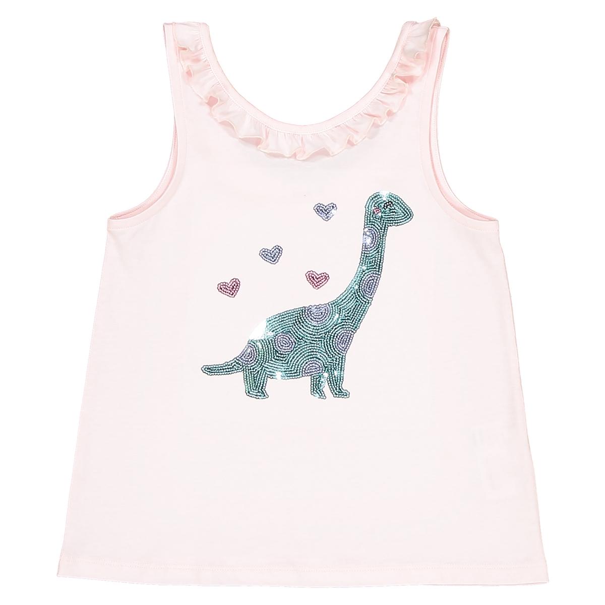 Топ с рисунком динозавр из блесток, 3-12 лет