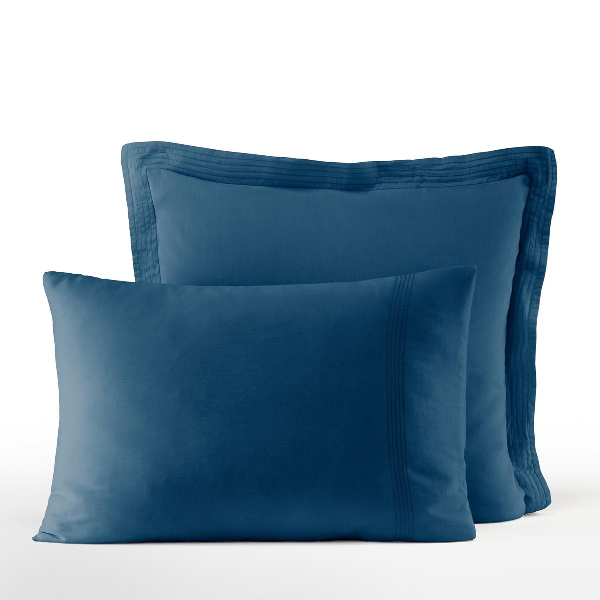 Наволочка La Redoute Из хлопкового сатина Bermidi 50 x 70 см синий наволочка la redoute flooch 50 x 30 см бежевый