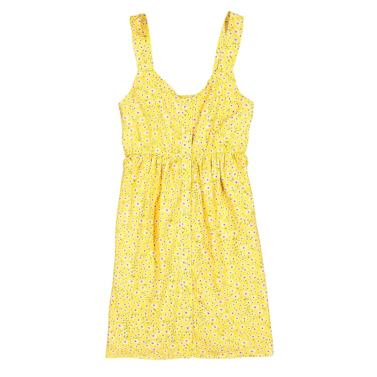 Платье La Redoute На бретелях с цветочным принтом 10-16 лет 16 лет - 162 см разноцветный polesie великан 162 детали разноцветный