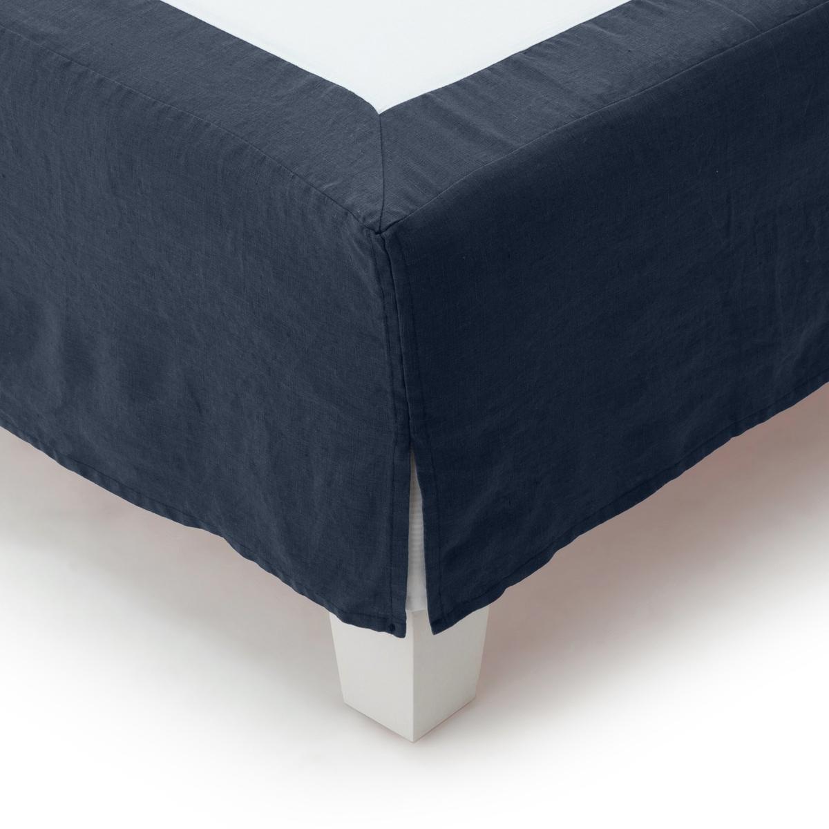 Чехол LaRedoute Для кровати 100 льна 90 x 190 см синий чехол laredoute для кровати 100 льна 160 x 200 см белый