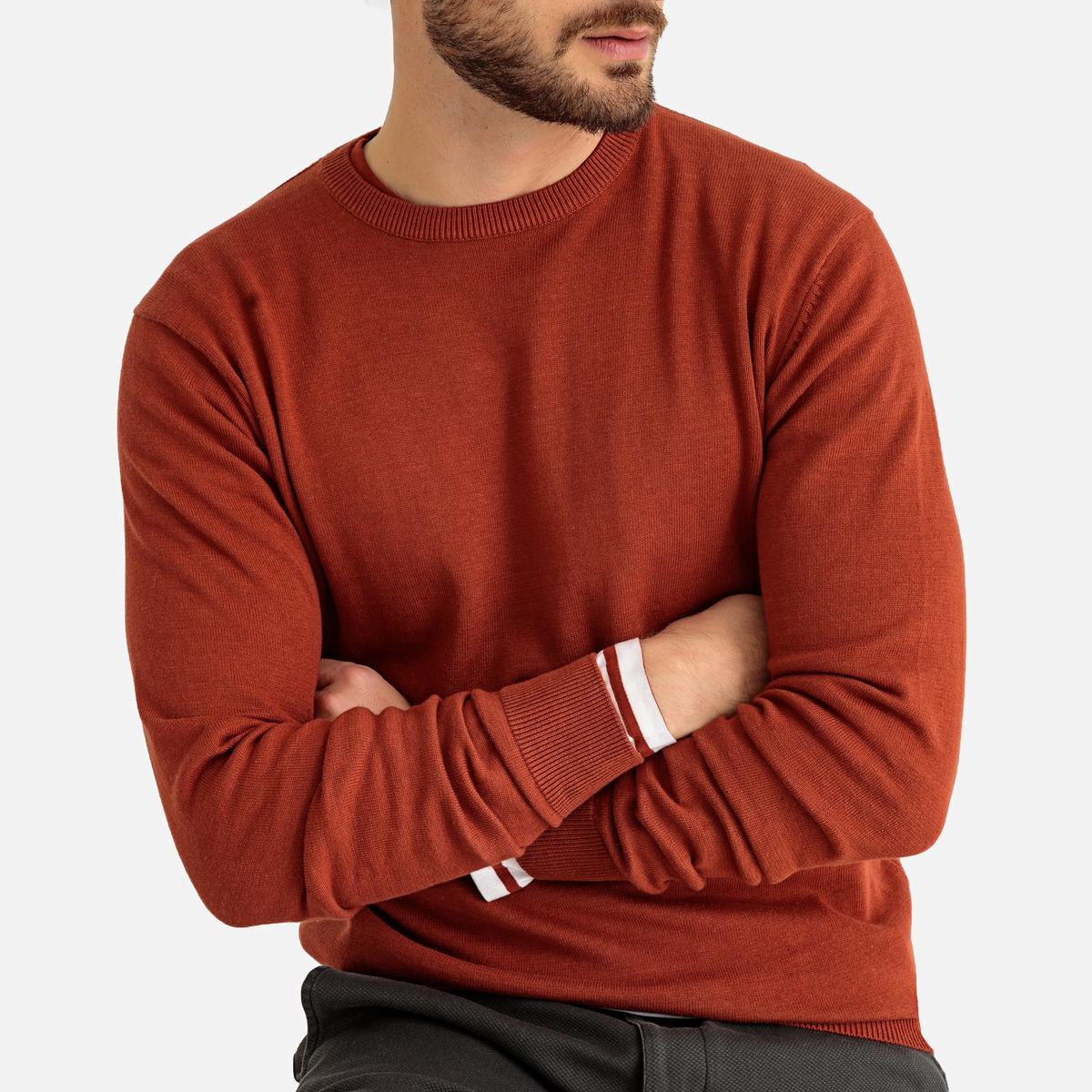 Пуловер PIERRE с круглым вырезом из 100% хлопка от La Redoute Collections