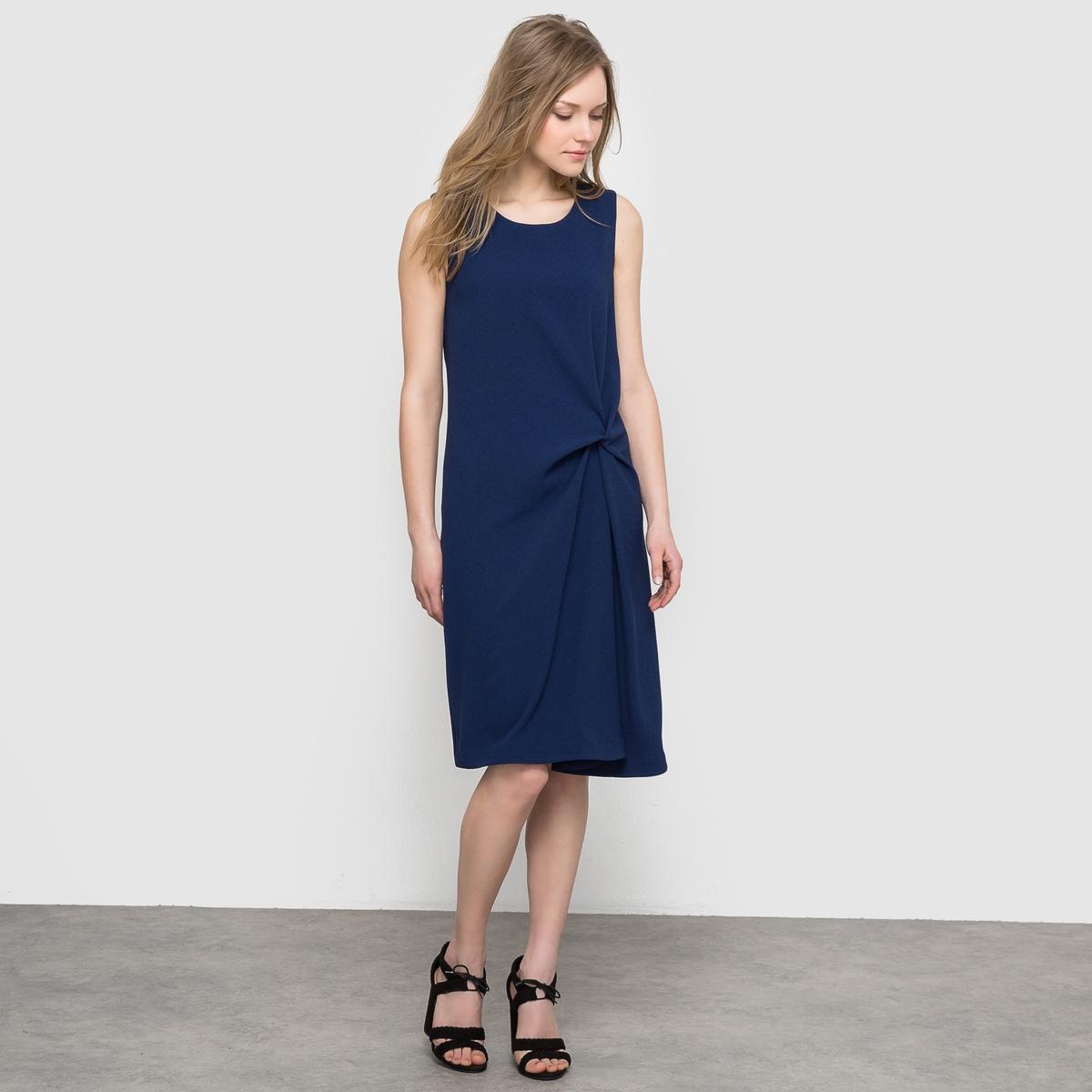 Фото Платье с драпировкой без рукавов. Купить с доставкой
