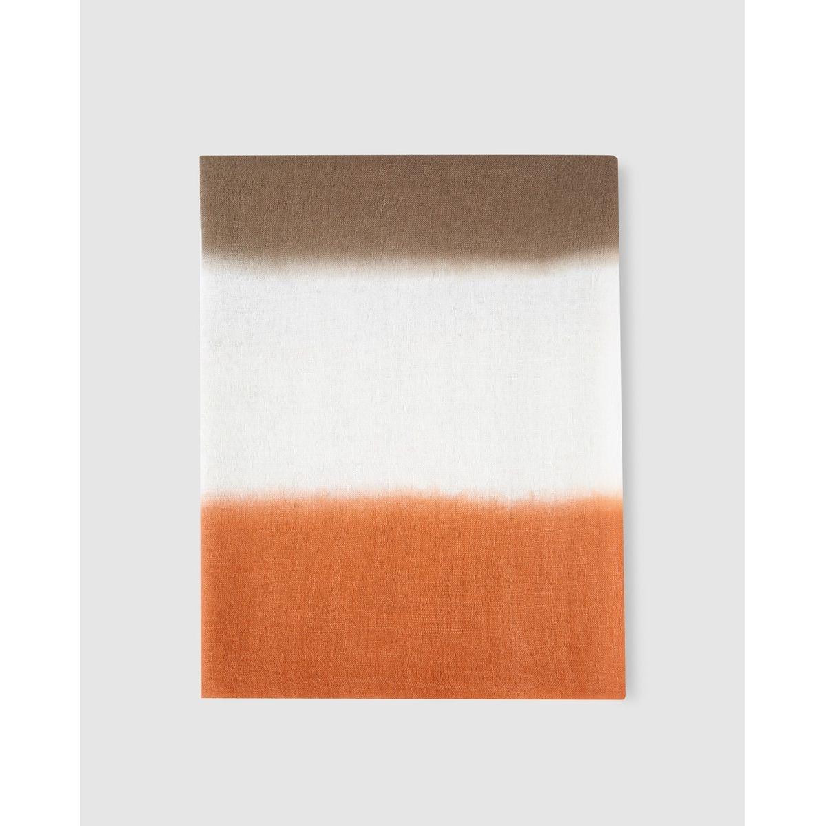 Foulard blanc color block