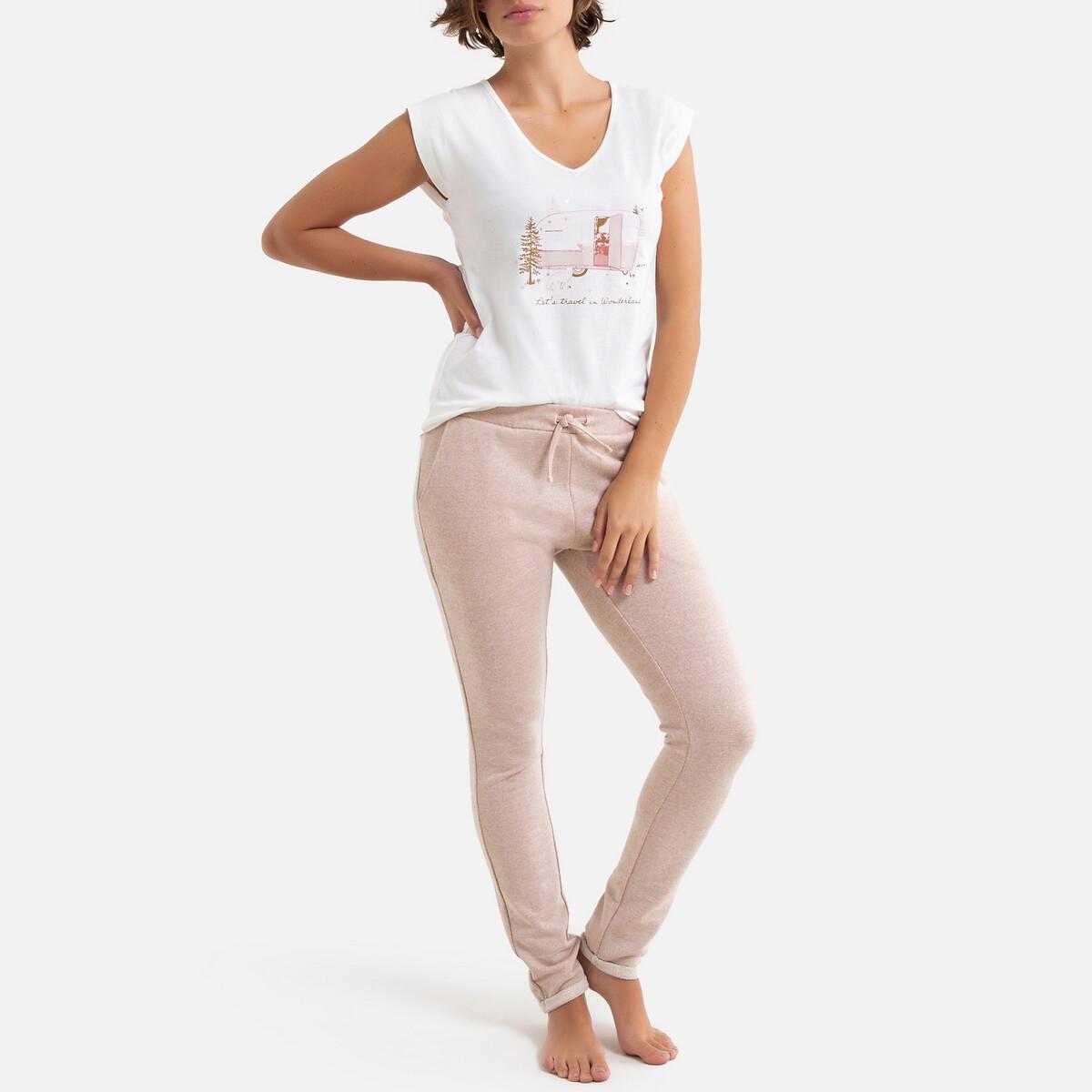 Пижама La Redoute С короткими рукавами 34/36 (FR) - 40/42 (RUS) розовый