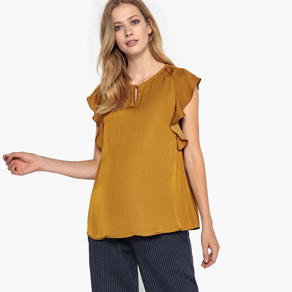 Блуза с рукавами с воланами для периода беременности от LA REDOUTE MATERNITE