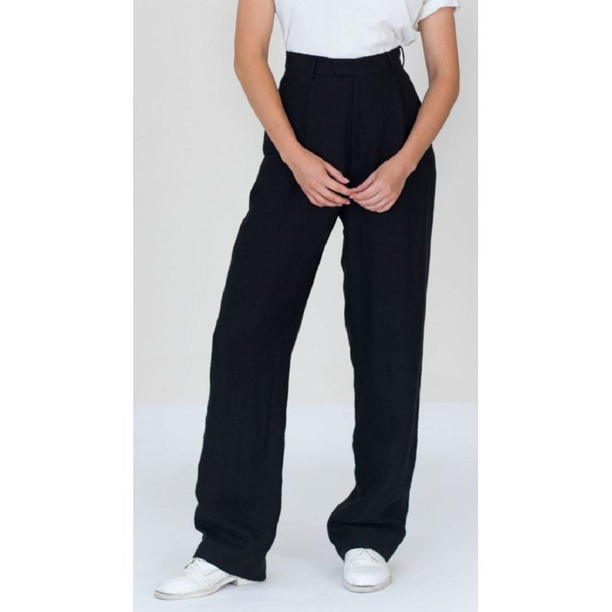 Pantalon droit lin