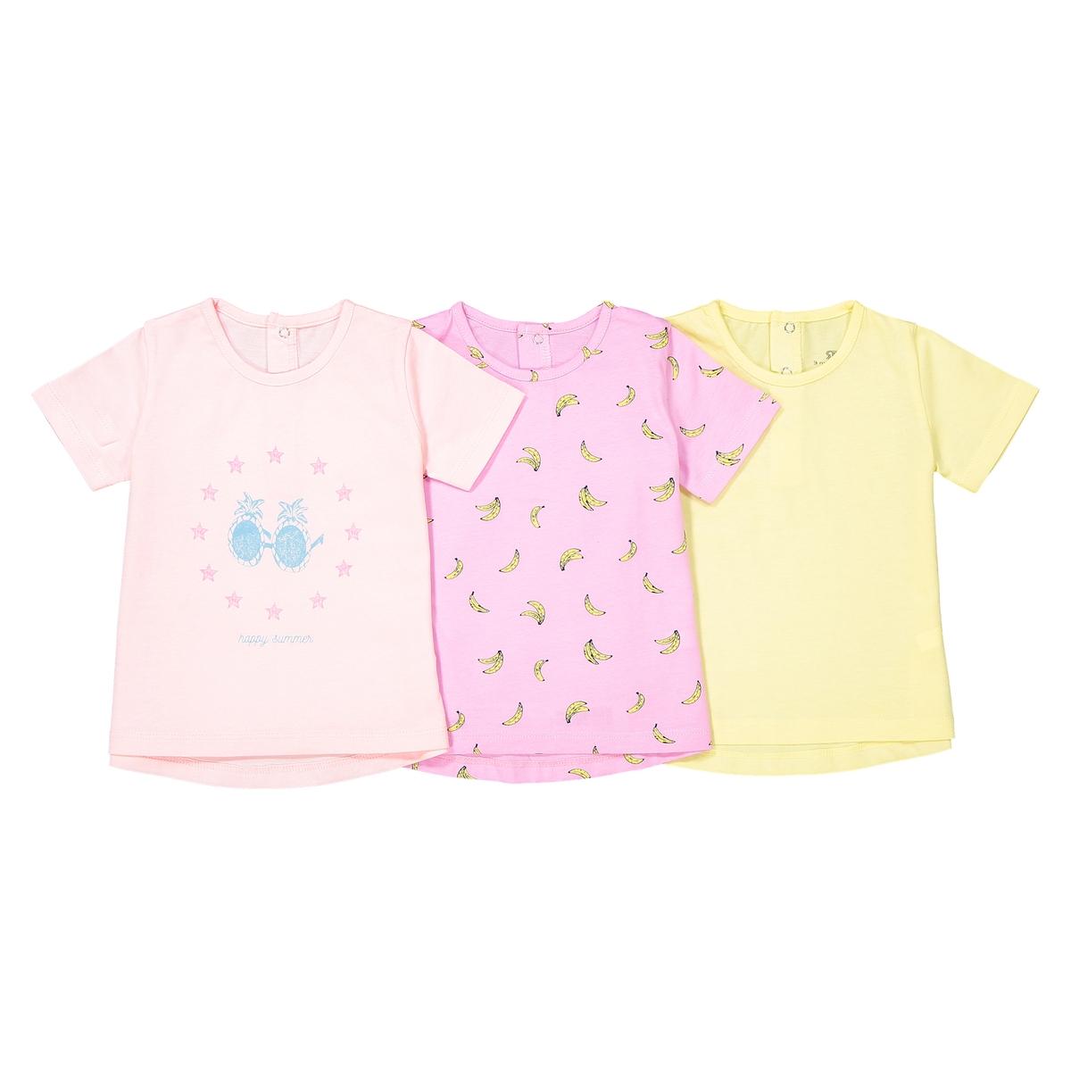 3 футболки с короткими рукавами, 1 мес. - 3 лет