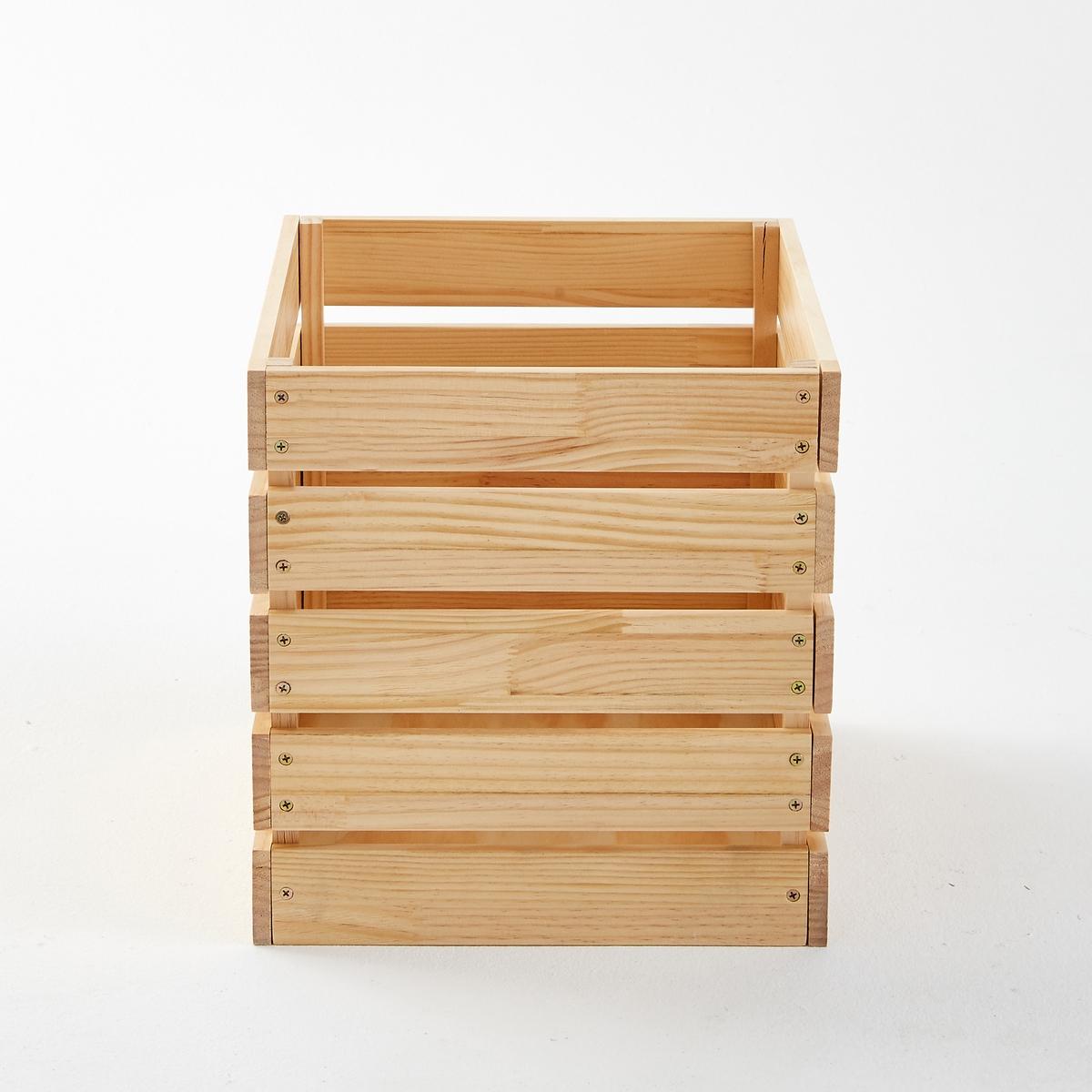 Ящик для вещей из массива сосны, HibaЯщик для вещей из сосны, Hiba . Декоративный и практичный ящик для хранения любых вещей сочетается с другими моделями для ванной и кухни от Hiba . Прекрасно подойдет для зала, спальни и любой другой комнаты в доме . Характеристики ящика для вещей из сосны, Hiba :Сосновые дощечки с масляным покрытием, толщ. 15 мм.Дно из МДФ, толщ. 9 мм .Найдите все ящики для хранения вещей и всю коллекцию Hiba на сайте laredoute.ruРазмеры ящика для вещей из сосны, Hiba  :Общие: Ширина 33,6 см Глубина 38,6 см Высота 35 смВес 3,2 кг Размеры и вес в упаковке :1 упаковка. Длина 41 x Ширина 38,5 x Высота 10,5 cм. 3,9 кг.<br><br>Цвет: серо-бежевый
